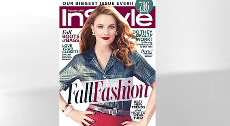 InStyle Drew Barrymore Cover