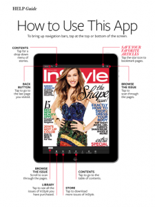 digital version of instyle magazine