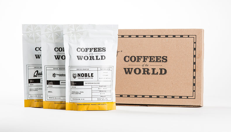 Coffees of the World packaging