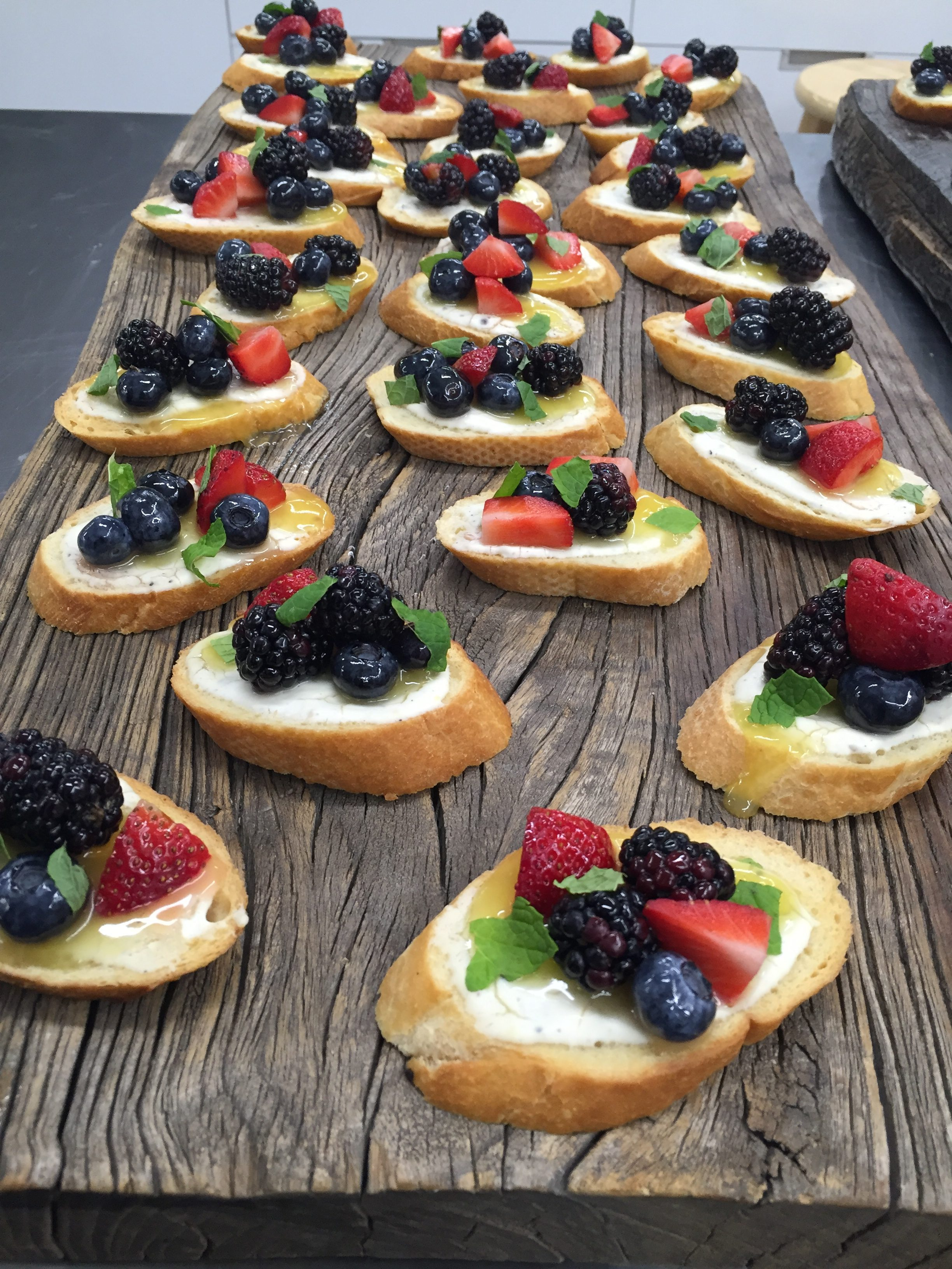 assorted crostini